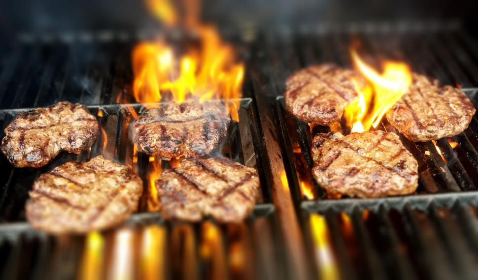 Download Free Stock HD Photo of Grilled Burger Meat  Online