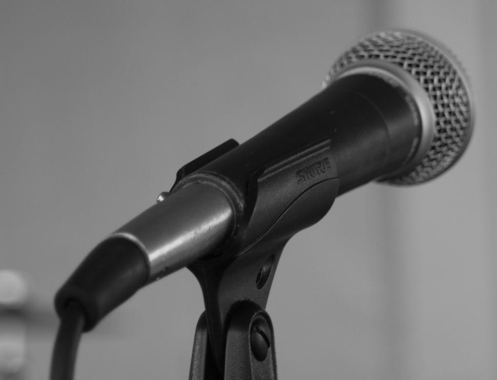 Download Free Stock Photo of Stage Mic