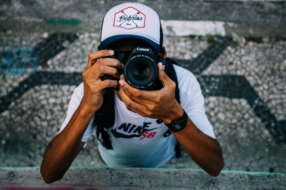 Download Free Stock Photo of Photographer clicking picture