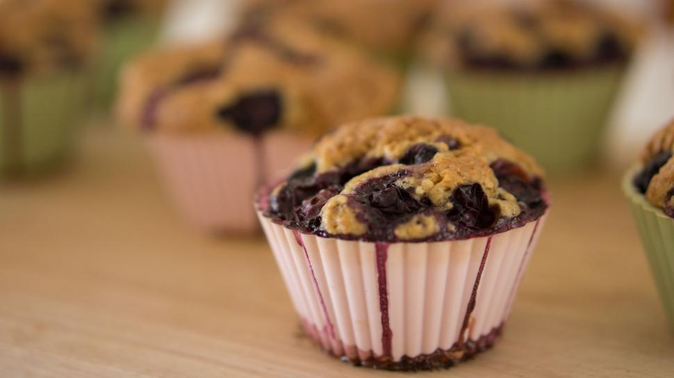 Download Free Stock HD Photo of Blueberry cupcake  Online