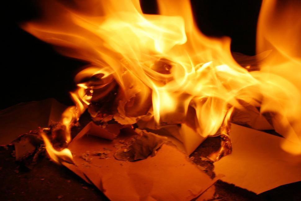 Download Free Stock Photo of Paper Burning