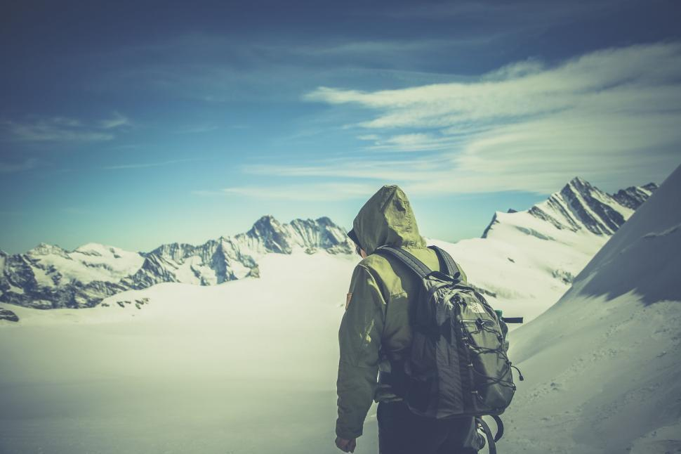 Download Free Stock HD Photo of Mountain Hiker  Online