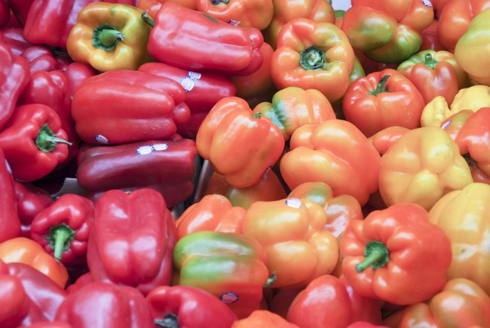 Download Free Stock HD Photo of Red, Yellow, Orange Bell Peppers Online