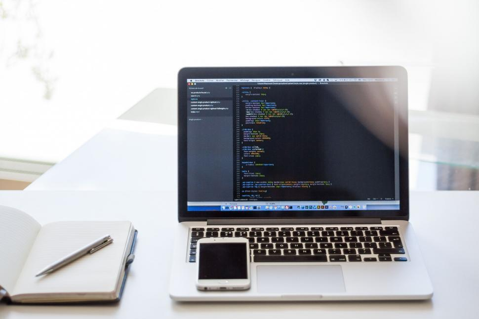Download Free Stock Photo of HTML Code on Laptop Screen
