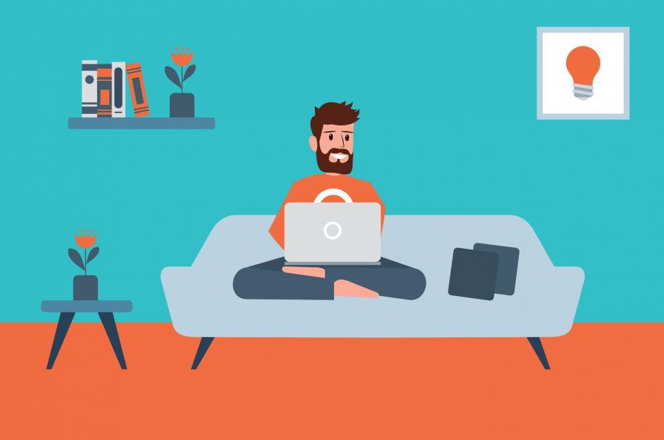 Download Free Stock Photo of Working From Home - Freelancer and Laptop - Gig Economy Concept