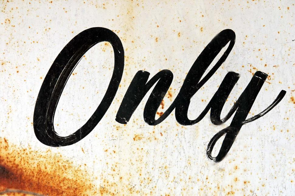 Download Free Stock HD Photo of The word Only Online