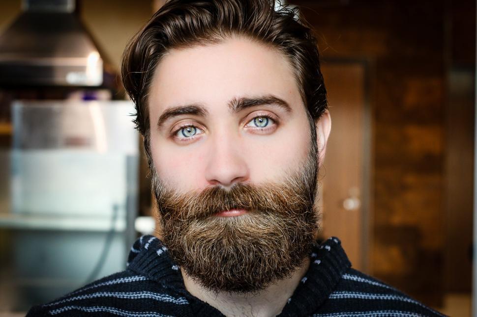 Download Free Stock Photo of Bearded Caucasian Man