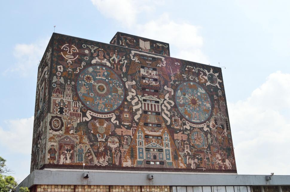 Download Free Stock Photo of Graffiti on University Wall