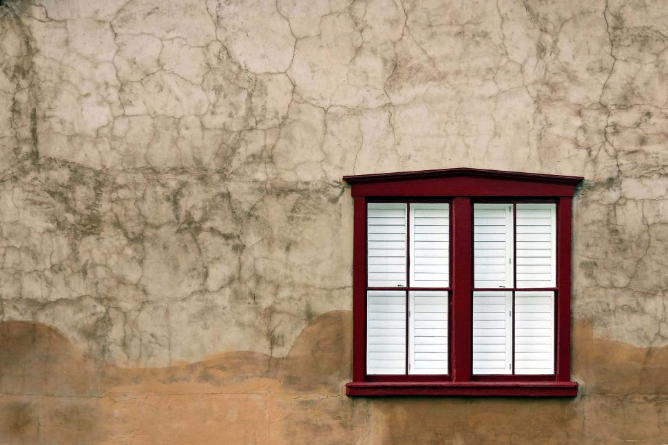 Download Free Stock HD Photo of Stucco and adobe with clean window Online