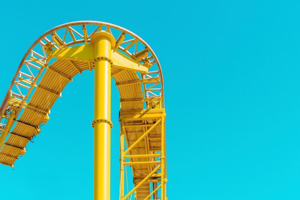 Download Free Stock Photo of Roller Coaster Ride - No People