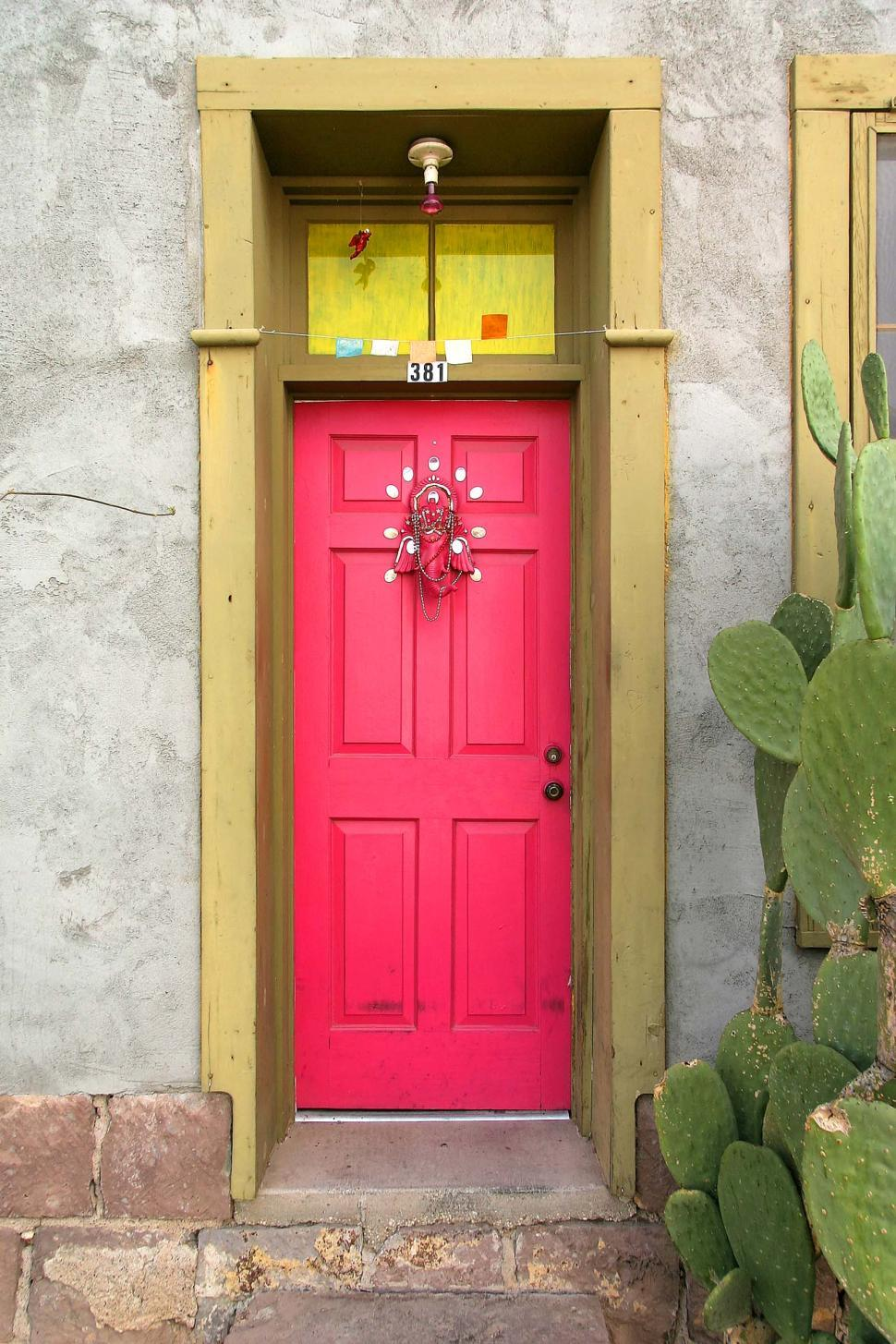 Download Free Stock HD Photo of Colorful pink doorway Online