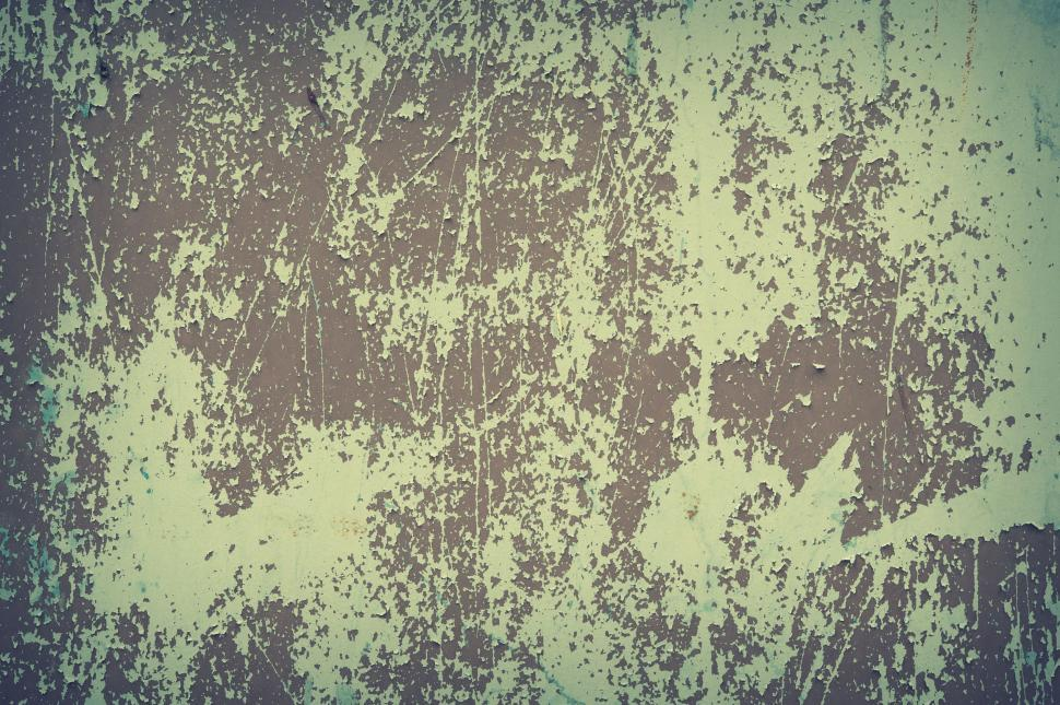 Download Free Stock Photo of Metal wall with peeling paint