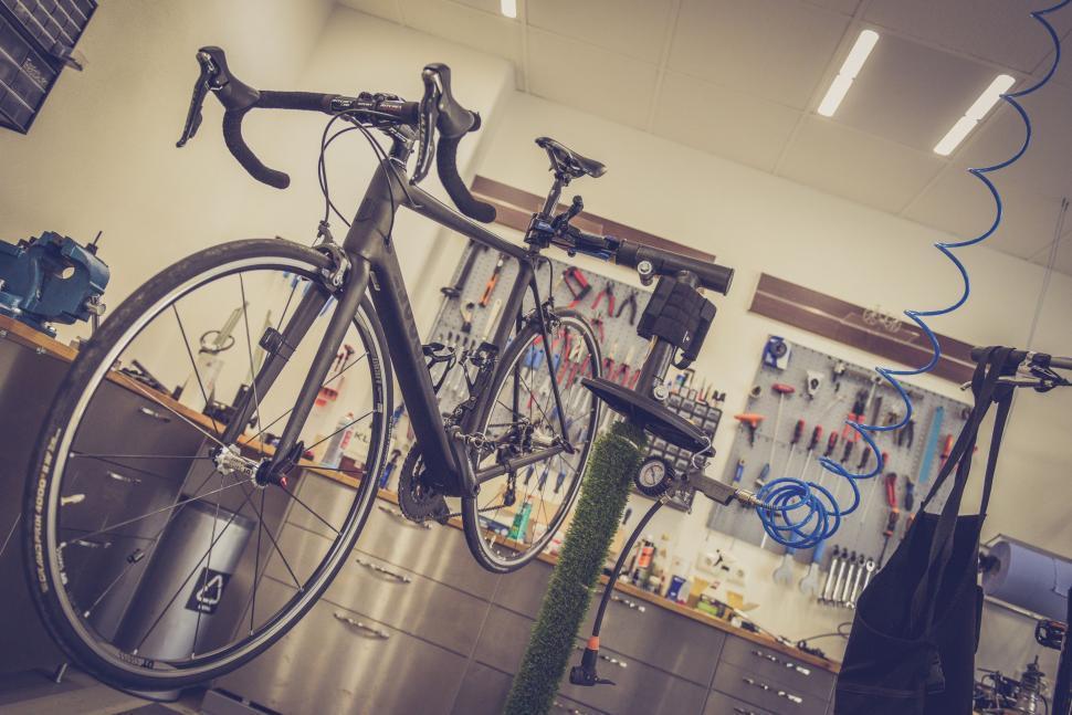 Download Free Stock Photo of Bike Repair Shop