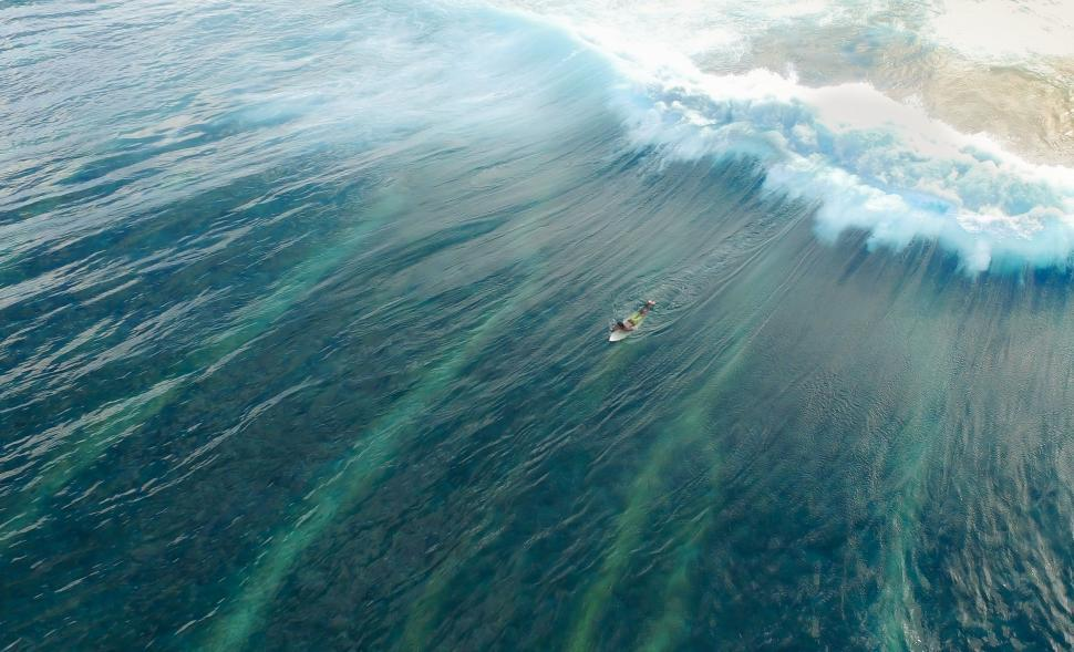 Download Free Stock Photo of Ocean waves and surfer