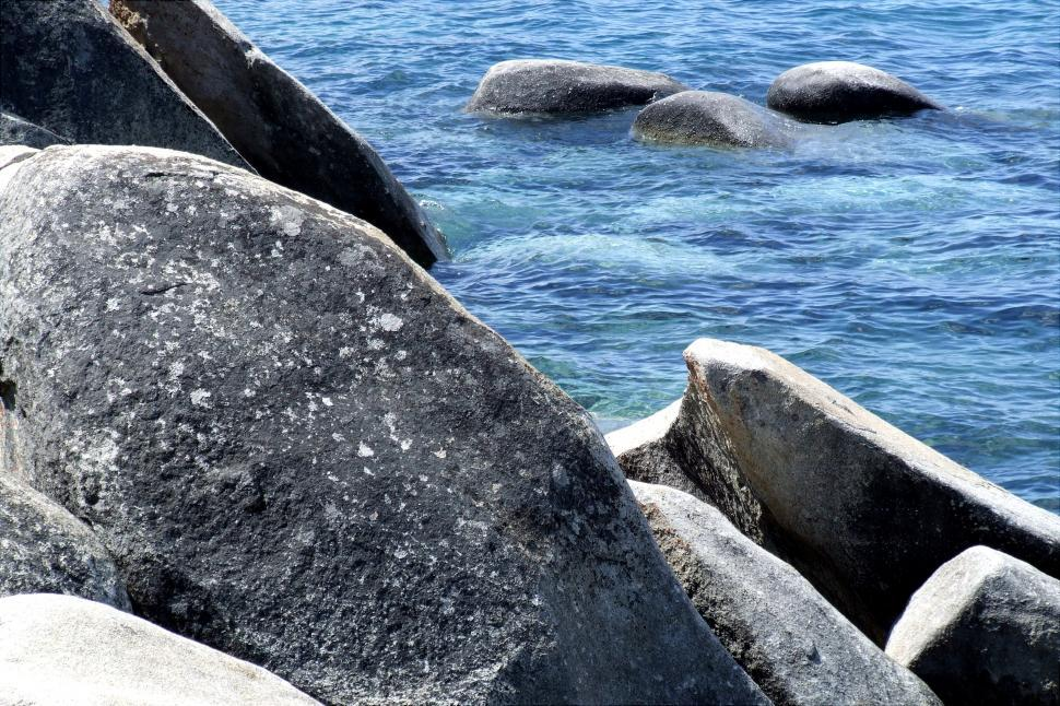 Download Free Stock HD Photo of Of Rocks and Water Online