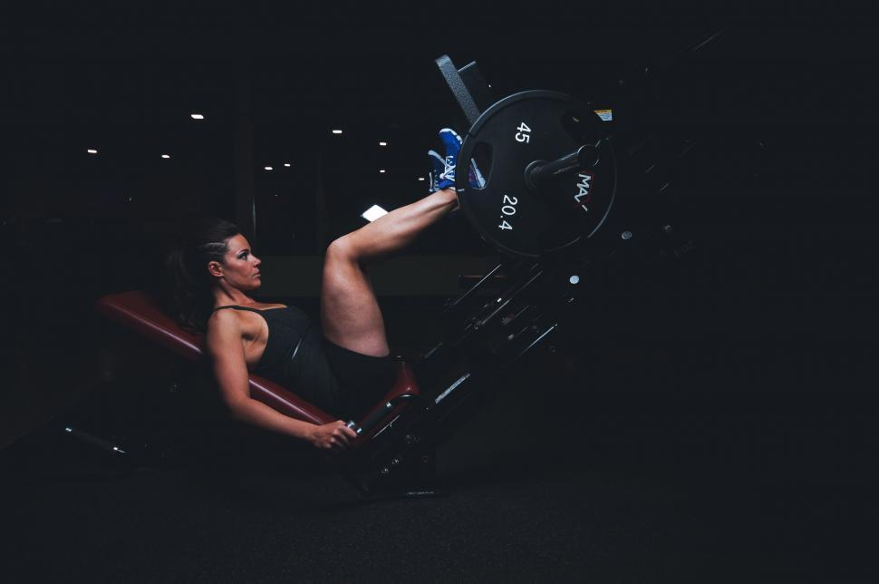 Download Free Stock Photo of Woman in gym