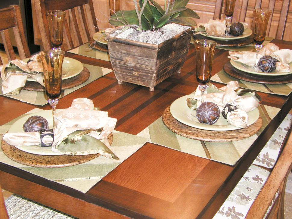 Download Free Stock Photo of Dinning Room and Place Setting