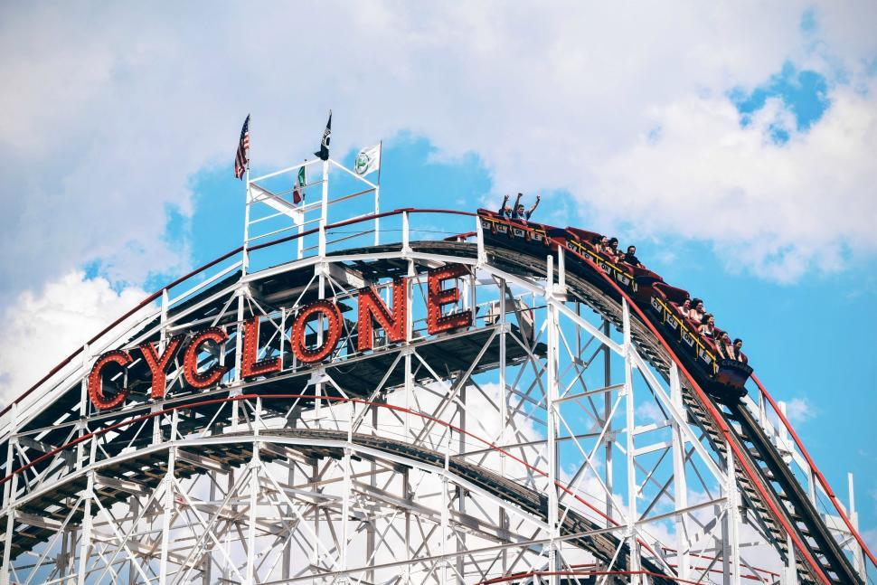 Download Free Stock Photo of Cyclone Roller-coaster
