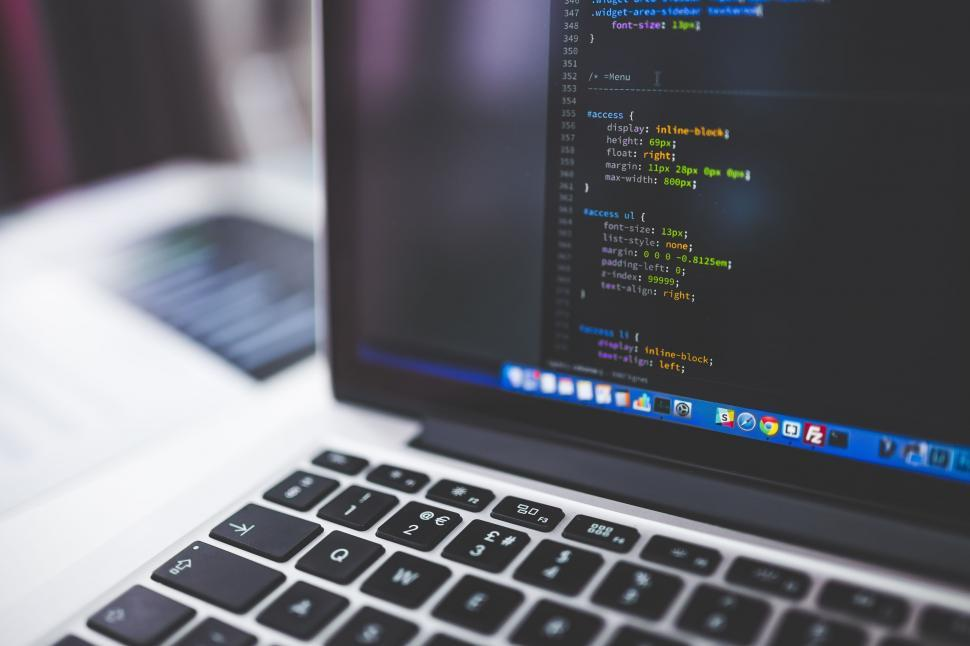 Download Free Stock Photo of Coding on Laptop