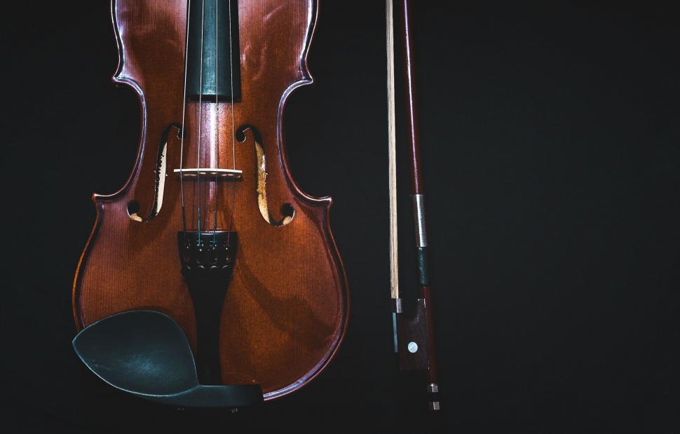 Download Free Stock Photo of Violin with bow