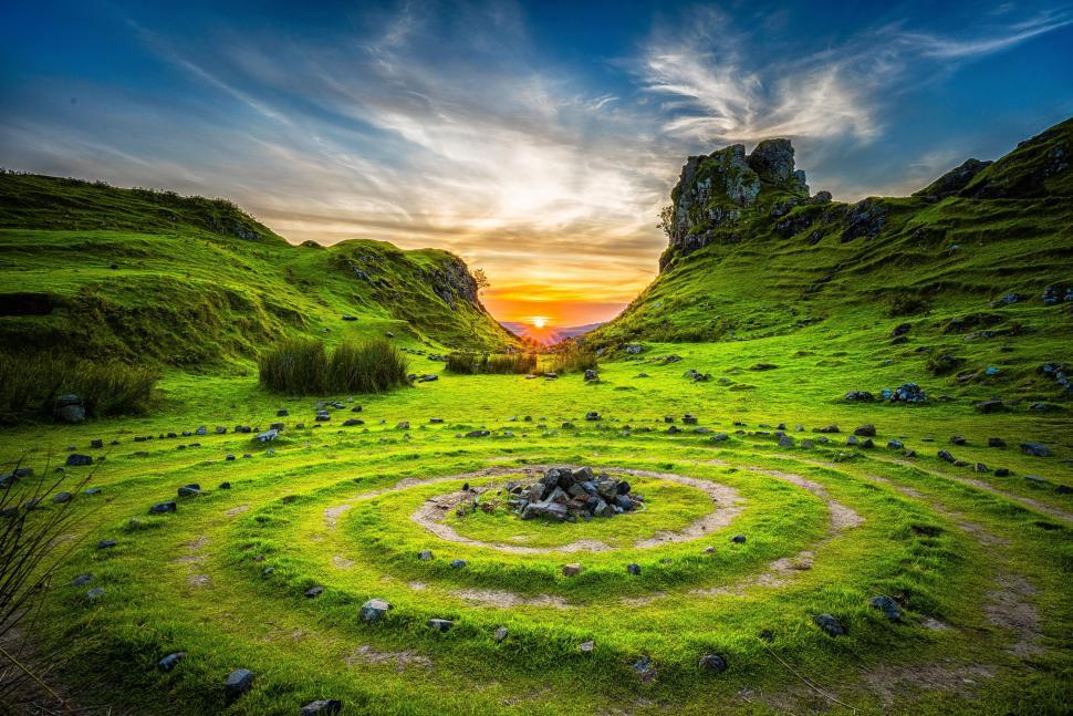 Download Free Stock Photo of Stone circles in Scotland
