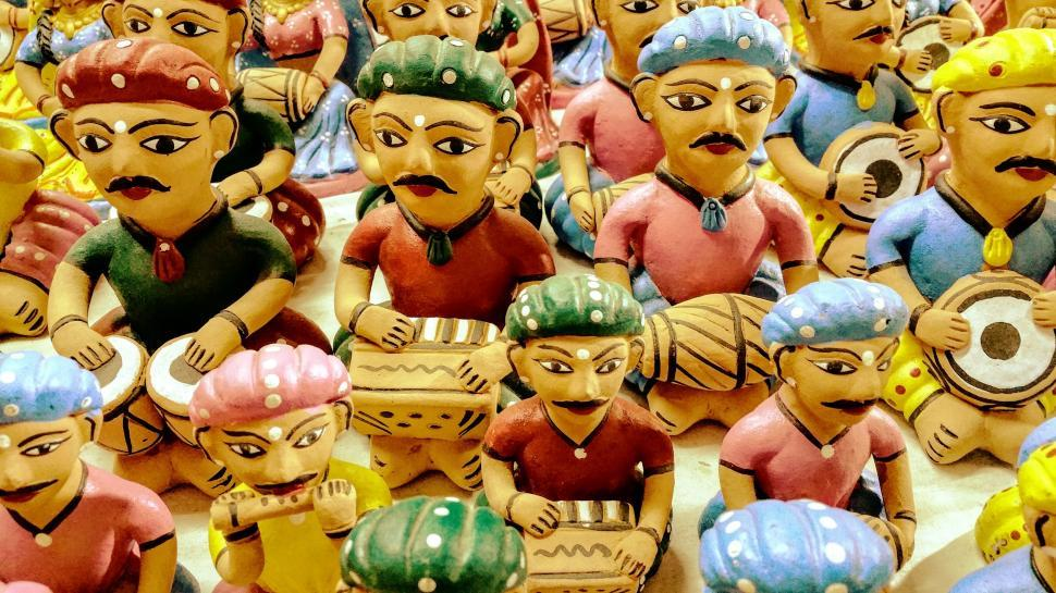 Download Free Stock HD Photo of Colorful Clay Toys in India  Online