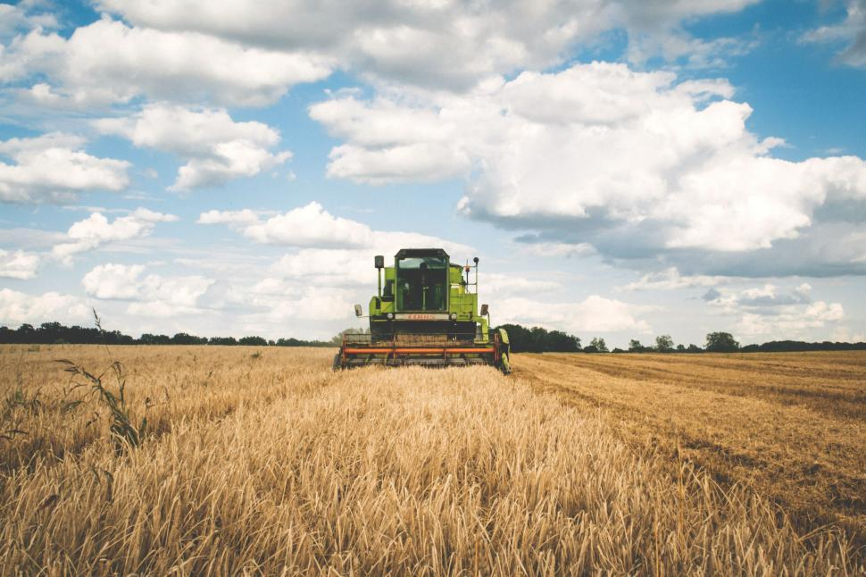 Download Free Stock Photo of Tractor in Farm