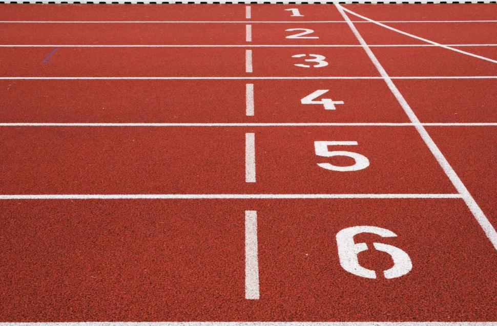 Download Free Stock Photo of Running track numbers
