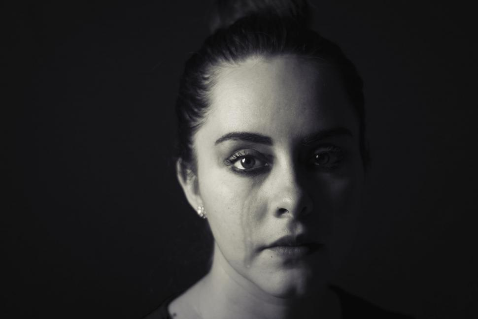 Download Free Stock Photo of Woman Face with Tears