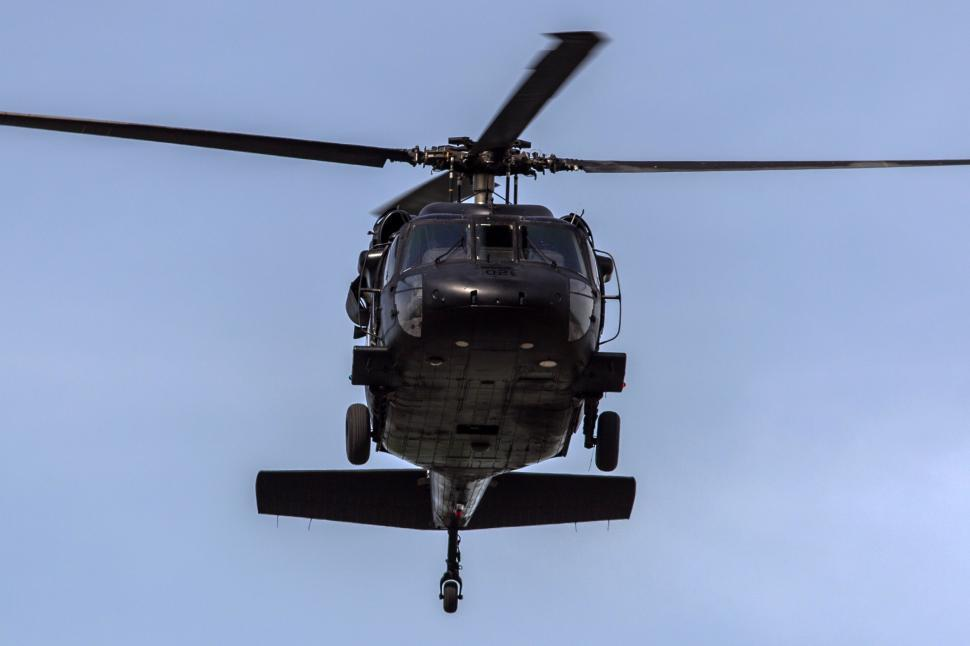 Download Free Stock Photo of Black Helicopter