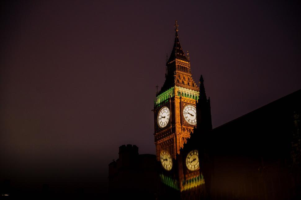 Download Free Stock Photo of Big Ben Tower at night
