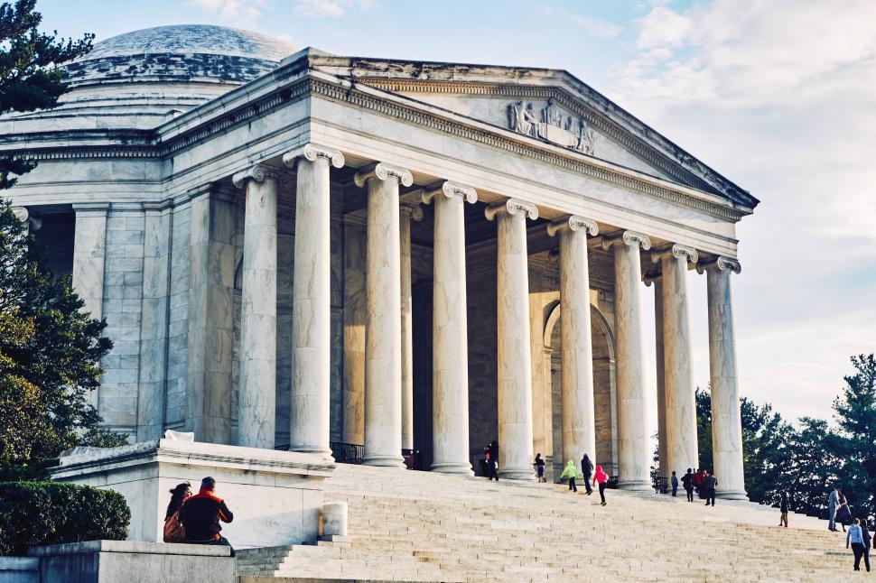 Download Free Stock Photo of Thomas Jefferson Memorial