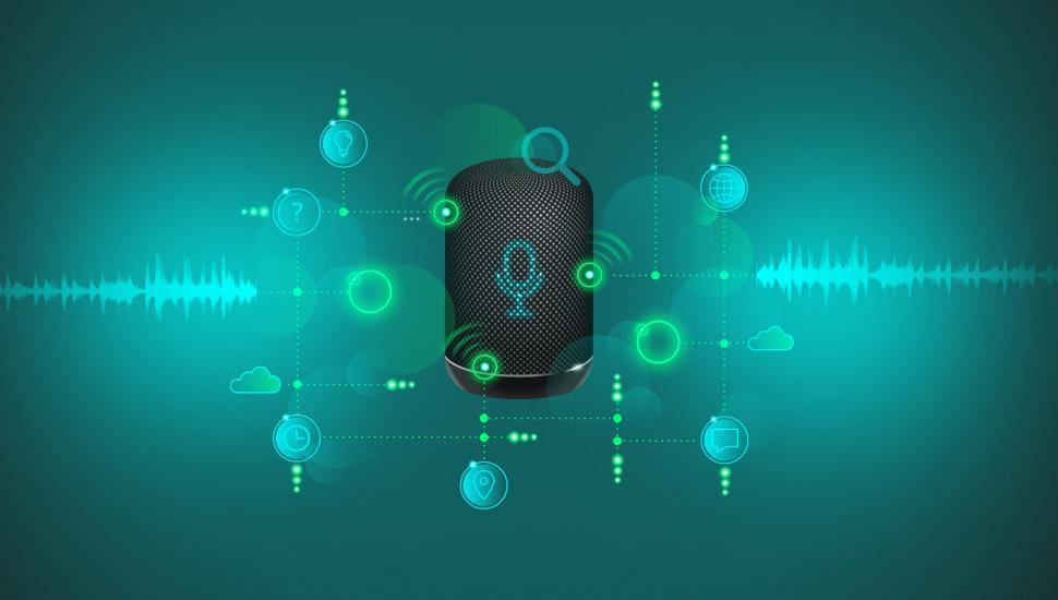 Download Free Stock HD Photo of Voice Search Technology - Smart Speaker - Voice Control Online
