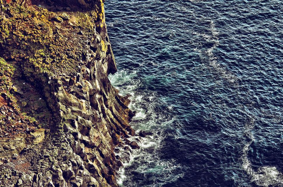 Download Free Stock Photo of Rock and Sea