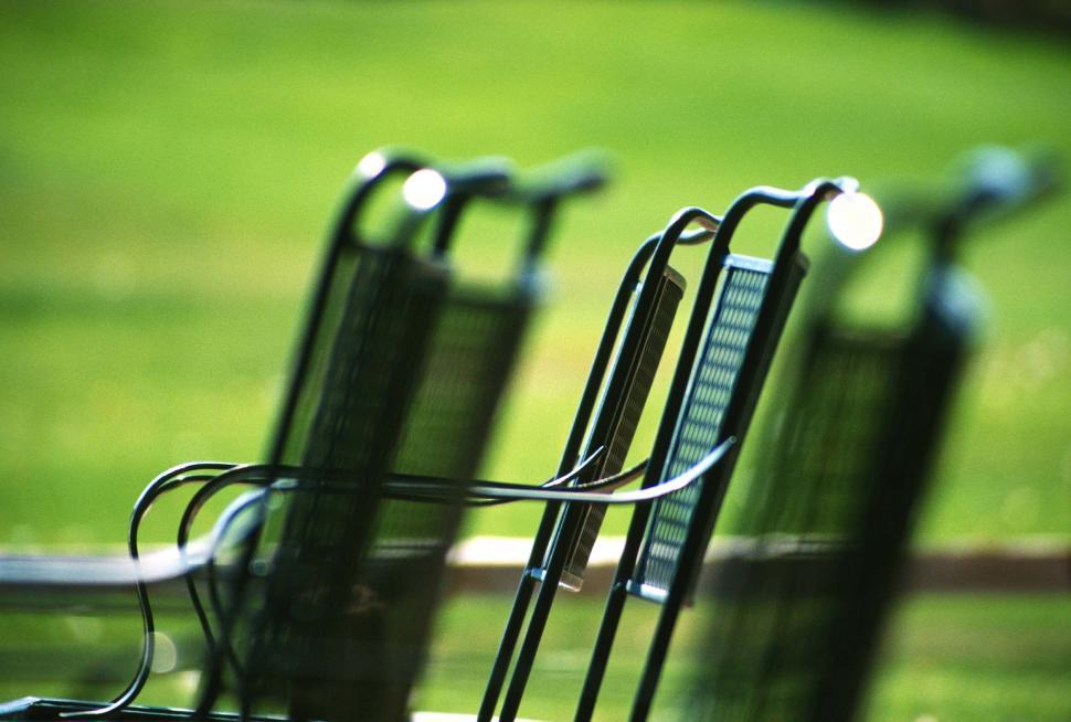 Download Free Stock Photo of Metal chairs