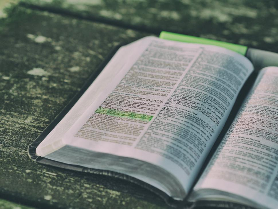 Download Free Stock Photo of Open Bible