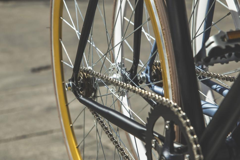 Download Free Stock Photo of Bicycle wheel and chain