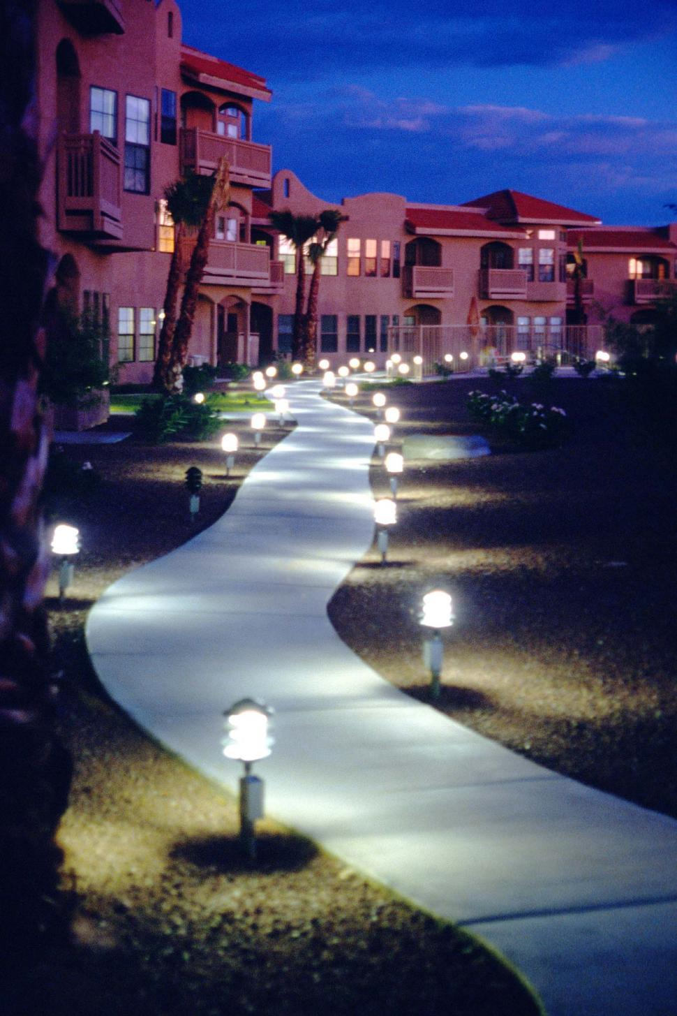 Download Free Stock Photo of Illuminated path