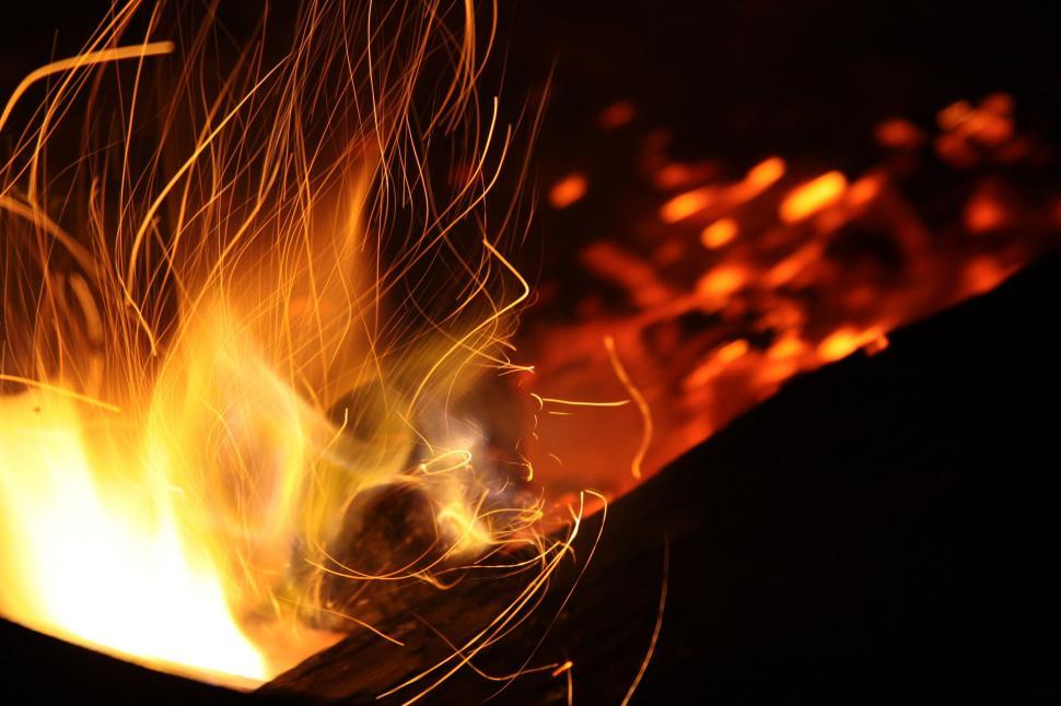 Download Free Stock Photo of Campfire Flame