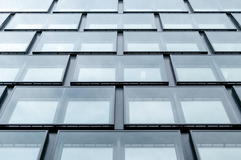 Download Free Stock Photo of Glass Windows of Modern Building