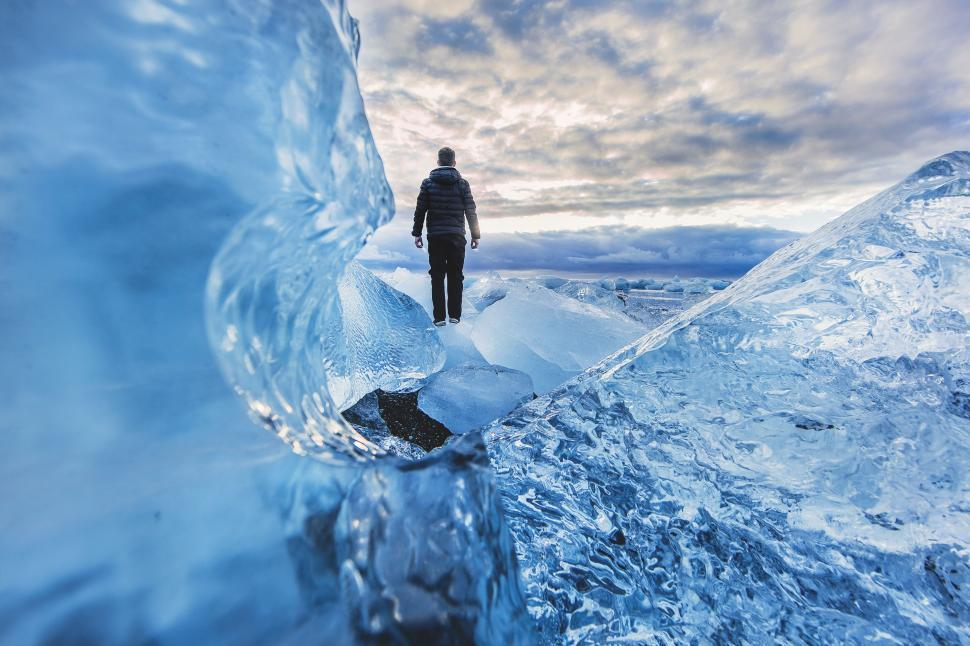 Download Free Stock Photo of Man on Ice