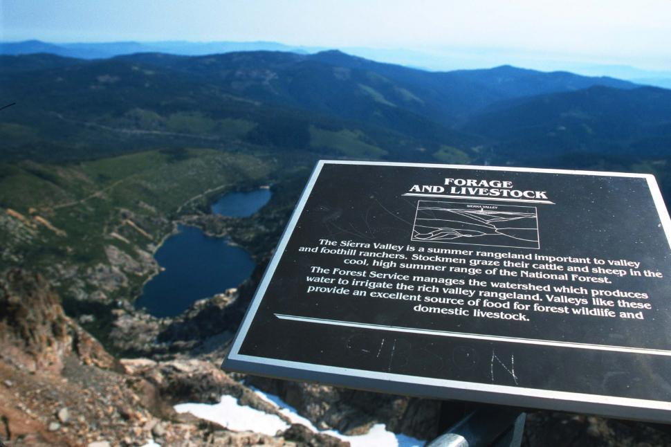 Download Free Stock Photo of Sierra Valley information sign