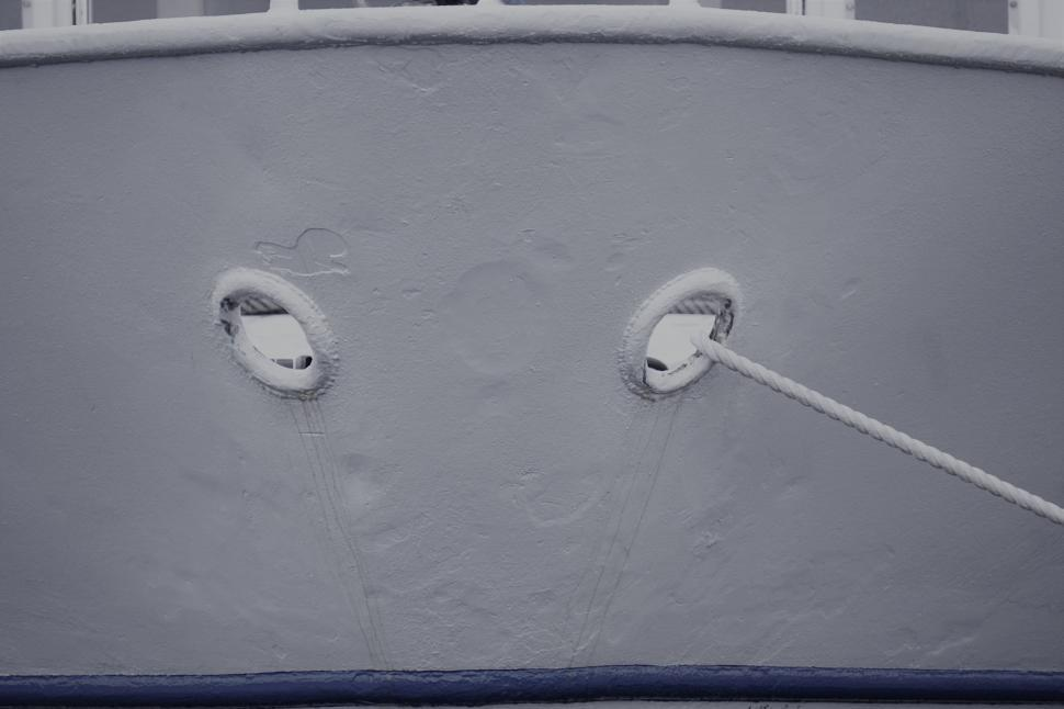 Download Free Stock Photo of Anchor holes in ship