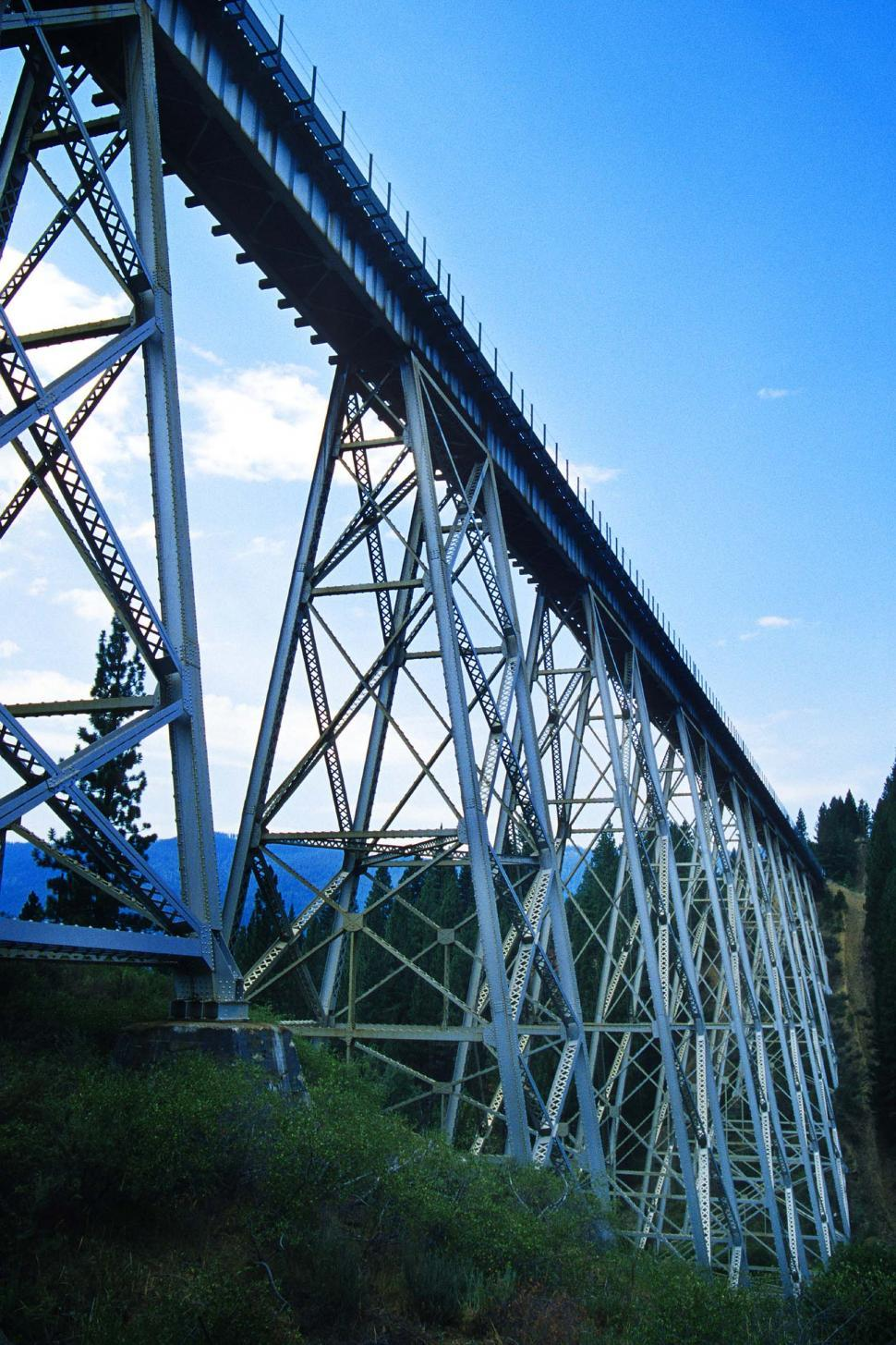 Download Free Stock HD Photo of Large trestle spanning gorge Online