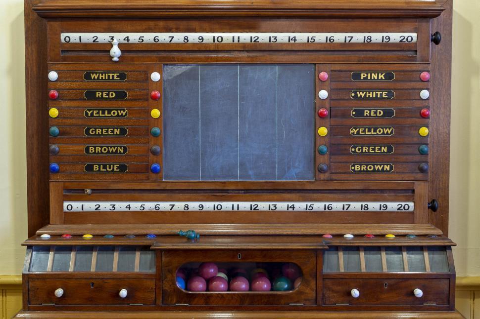 Download Free Stock Photo of Scoring Cabinet