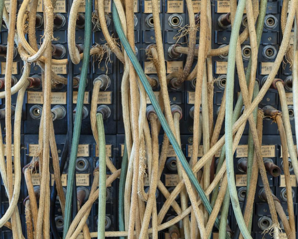 Download Free Stock Photo of Vintage communication cables