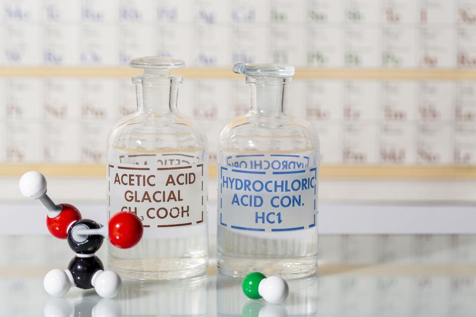 Download Free Stock Photo of Acids and chemical structures
