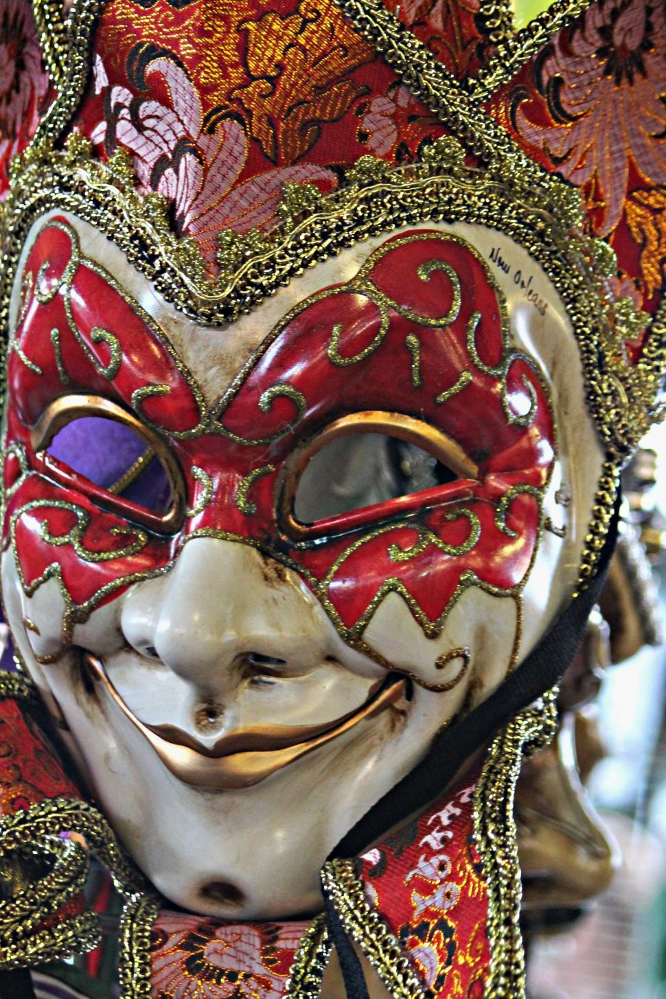 Download Free Stock Photo of Mardi Gras Mask