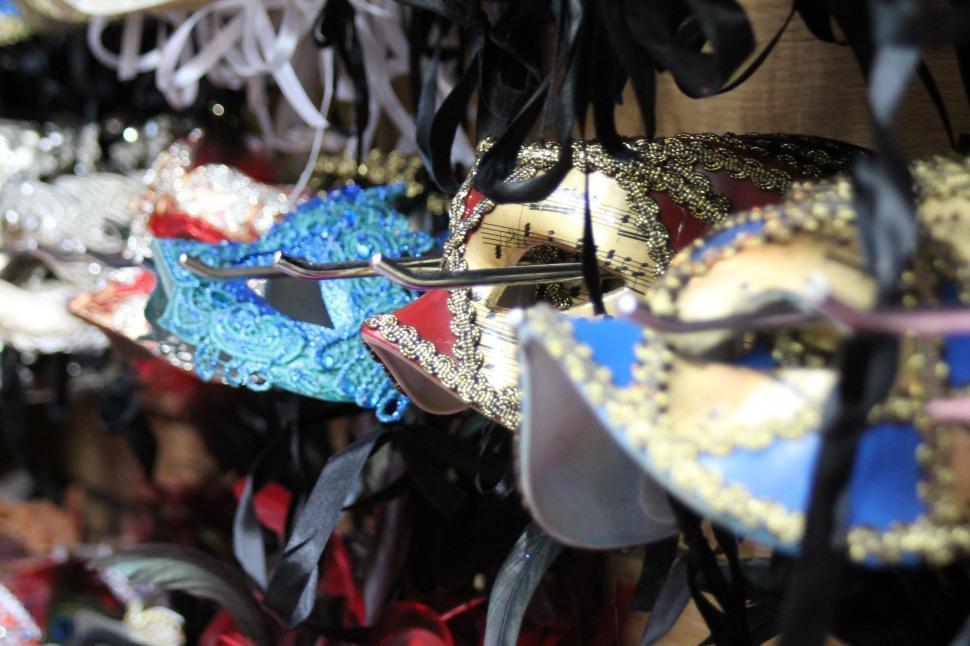 Download Free Stock Photo of Mardi Gras Masks