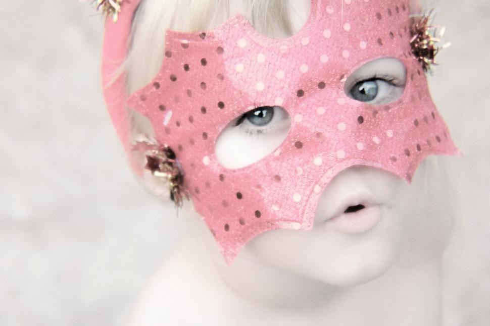 Download Free Stock Photo of Little Girl in Masquerade Mask